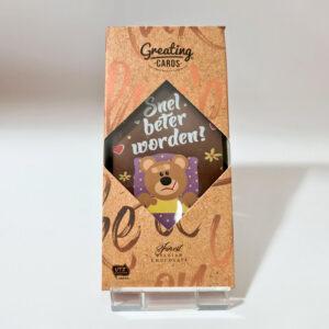 Chocolade cadeaukaart Snel beter worden
