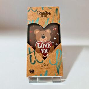 Chocolade cadeaukaart Love you