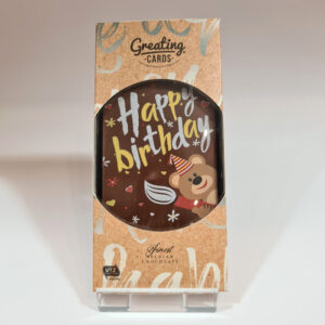 Chocolade cadeaukaart (Happy Birthday Beertje)
