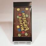 Chocolade kaart (Happy Birthday ballonnen)